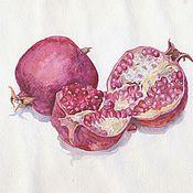 Картины и панно ручной работы. Ярмарка Мастеров - ручная работа Плоды граната. Handmade.