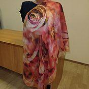 Ткани ручной работы. Ярмарка Мастеров - ручная работа 10290 лоскут Павловопосадского платка 115 из разряженной ткани. Handmade.