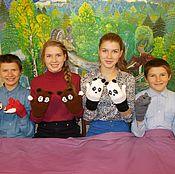 Аксессуары handmade. Livemaster - original item Funny mittens. Handmade.