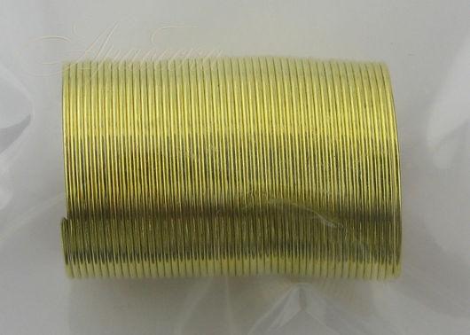 Проволока с памятью для кольца золотого цвета 48витков BEADSMITH (Китай)