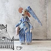 handmade. Livemaster - original item interior doll: Mouse Scops owl. Handmade.