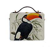 Сумки и аксессуары handmade. Livemaster - original item Women`s bag Toucan made of wood with painting. Handmade.