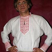 Народные рубахи ручной работы. Ярмарка Мастеров - ручная работа Рубаха льняная с карельской вышивкой.. Handmade.