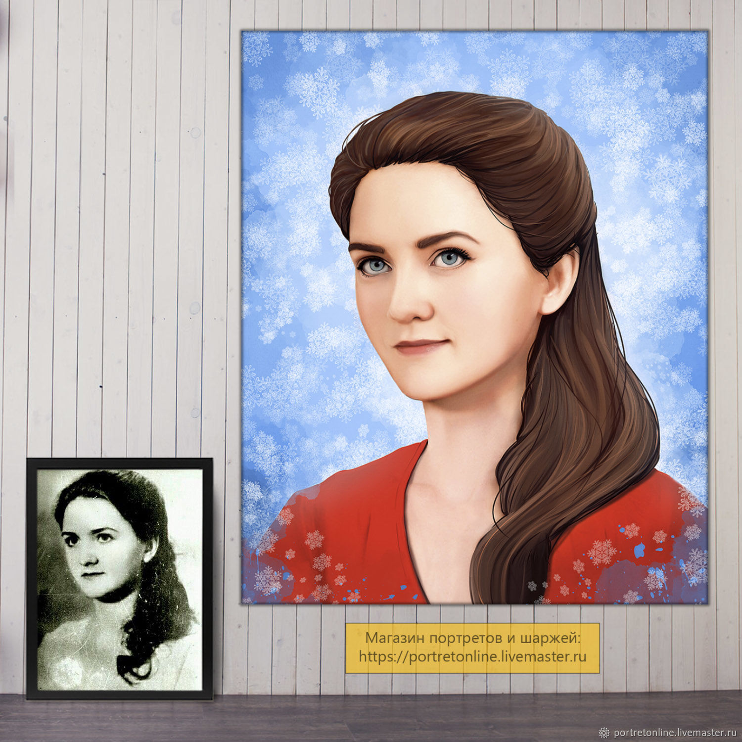 Portrait of a woman on the photo, restoration. gift for birthday, Pictures, Moscow,  Фото №1