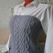 """Одежда ручной работы. Ярмарка Мастеров - ручная работа вязаный жилет-корсет,снуд,юбка """"Дымка"""" ручной работы. Handmade."""