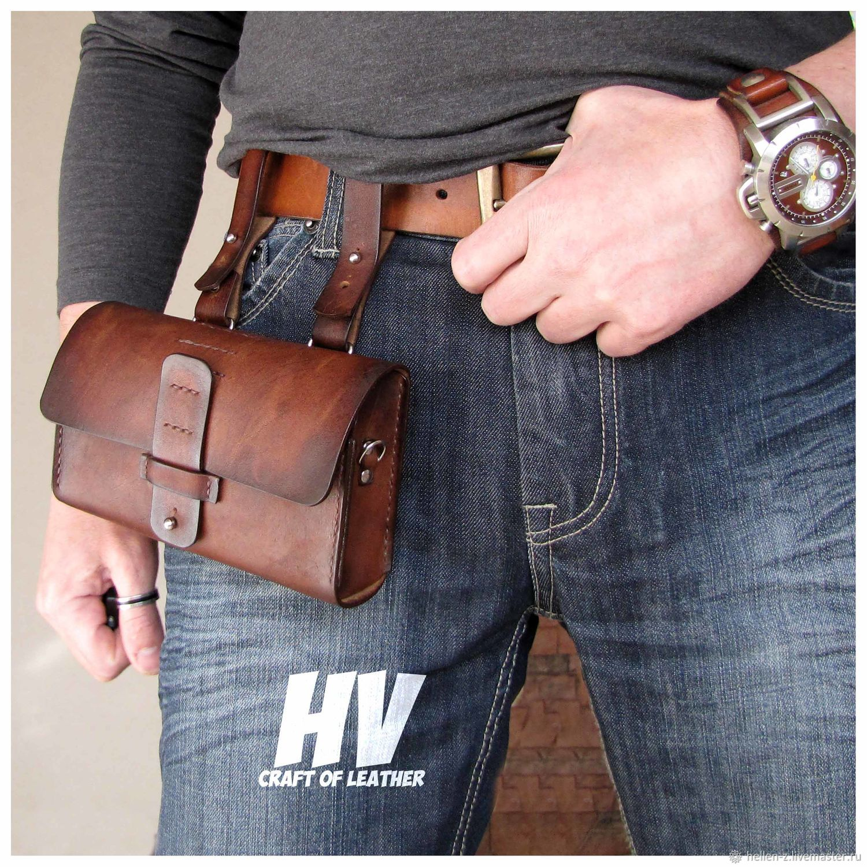 Belt bag' Long Bag ' made of genuine leather, Waist Bag, Stavropol,  Фото №1