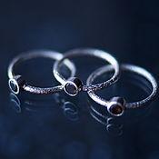 Украшения handmade. Livemaster - original item Textured silver ring with smoky quartz (rauchtopaz). Handmade.