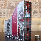 """Журнальницы ручной работы. Ярмарка Мастеров - ручная работа """"Я уеду жить в Лондон!"""", журнальница. Handmade."""