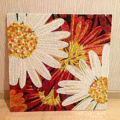 Картины и панно ручной работы. Ярмарка Мастеров - ручная работа Цветы, мозаичное панно. Handmade.