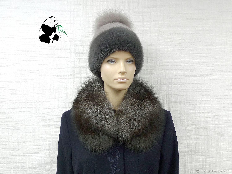 Fur detachable collar fringe Fox fur TK-490, Collars, Ekaterinburg,  Фото №1