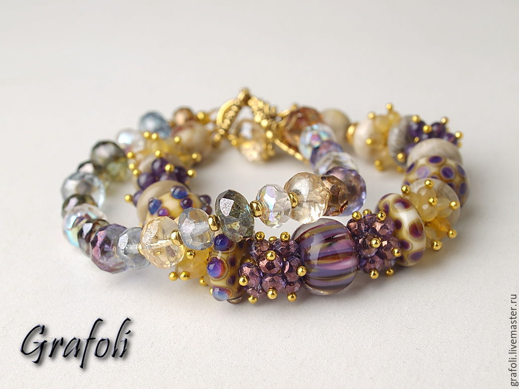 Bracelet from stones of the City of gold, Bead bracelet, Moscow,  Фото №1
