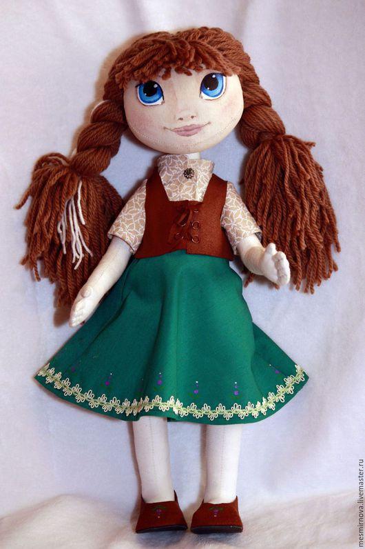 Сказочные персонажи ручной работы. Ярмарка Мастеров - ручная работа. Купить Кукла Принцесса Анна из Ледяного Сердца. Handmade. Бежевый