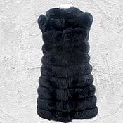 Одежда ручной работы. Ярмарка Мастеров - ручная работа Удлиненный меховой жилет из песца.. Handmade.