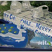"""Косметика ручной работы. Ярмарка Мастеров - ручная работа Набор мыла """"Новогодний"""". Handmade."""