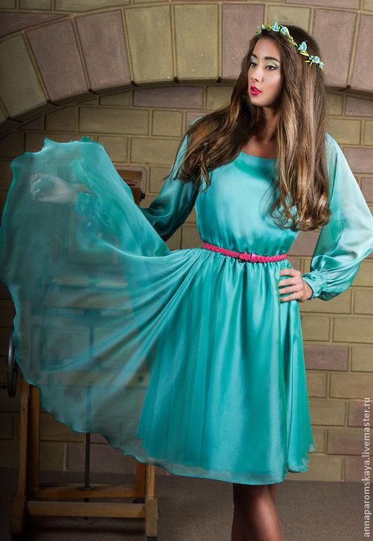 Платья ручной работы. Ярмарка Мастеров - ручная работа. Купить Мятное платье+пояс в подарок. Handmade. Мятный, мятное платье, весна