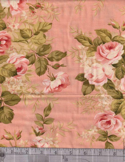 Шитье ручной работы. Ярмарка Мастеров - ручная работа. Купить 1236 Американская ткань. Handmade. Бледно-розовый, ткань с рисунком