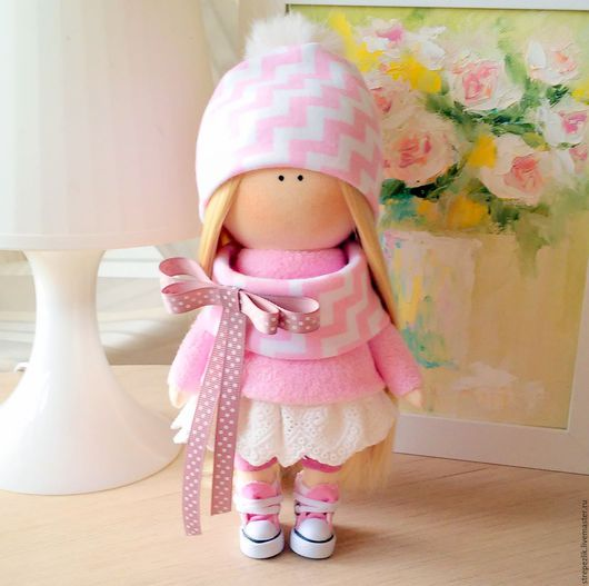 Коллекционные куклы ручной работы. Ярмарка Мастеров - ручная работа. Купить Кукла ручной работы. Handmade. Розовый, кукла интерьерная
