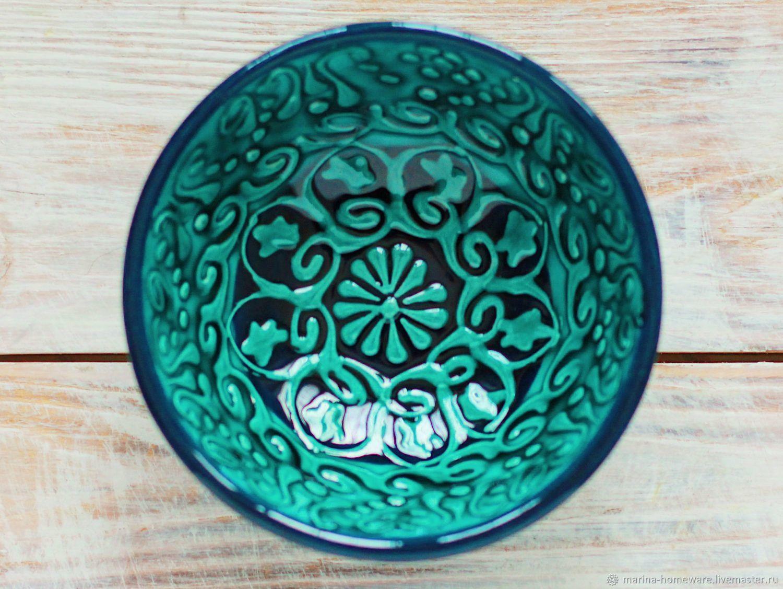 Пиалы ручной работы. Ярмарка Мастеров - ручная работа. Купить Керамическая пиала маленькая (зелёная). Handmade. Керамика, тарелочка
