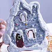 Пряники ручной работы. Ярмарка Мастеров - ручная работа Пряники: Новогодний домик. Handmade.
