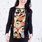 """Одежда ручной работы. Ярмарка Мастеров - ручная работа Джемпер с шелком """"Эвита"""". Handmade."""
