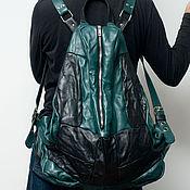 Сумки и аксессуары handmade. Livemaster - original item Black backpack, genuine leather, pressed, Space ship Kea.. Handmade.