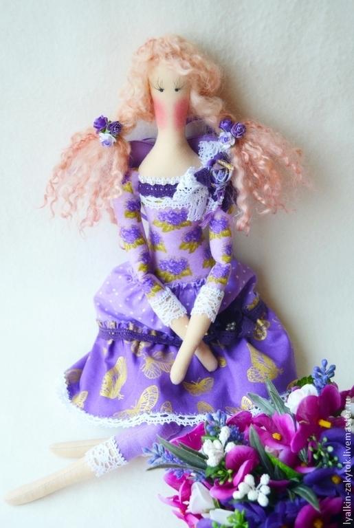 Куклы Тильды ручной работы. Ярмарка Мастеров - ручная работа. Купить Тильда Виолетта. Handmade. Фиолетовый, Цветочная фея
