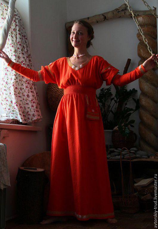 Платье Лён 100% . Шьётся на заказ ,по меркам.Все изделия шьются с ластовицами(под мышками). Шьётся сумочка мешочек из такой же ткани.100%лён. Платье ручной труд