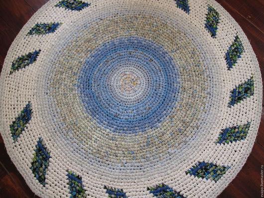 """Текстиль, ковры ручной работы. Ярмарка Мастеров - ручная работа. Купить Ковер текстильный """"Голубая мечта"""". Handmade. Белый, дом"""