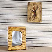 Для дома и интерьера handmade. Livemaster - original item Mirror interior wall Board wooden Oak light. Handmade.