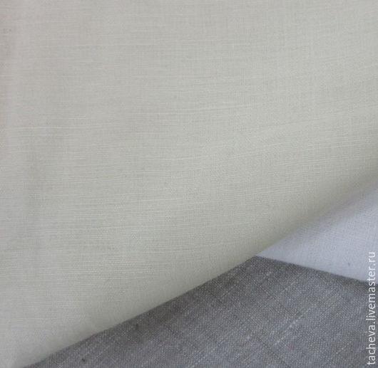 Шитье ручной работы. Ярмарка Мастеров - ручная работа. Купить Ткань льняная бельевая- сливочная. Handmade. Бежевый, Ткань льняная