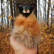 Куклы и игрушки ручной работы. Ярмарка Мастеров - ручная работа Кожаная игрушка с мехом Кот в шубе. Handmade.