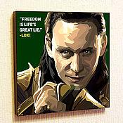 Картины и панно handmade. Livemaster - original item Pop Art Painting Loki 2 Marvel in the style of Pop Art. Handmade.