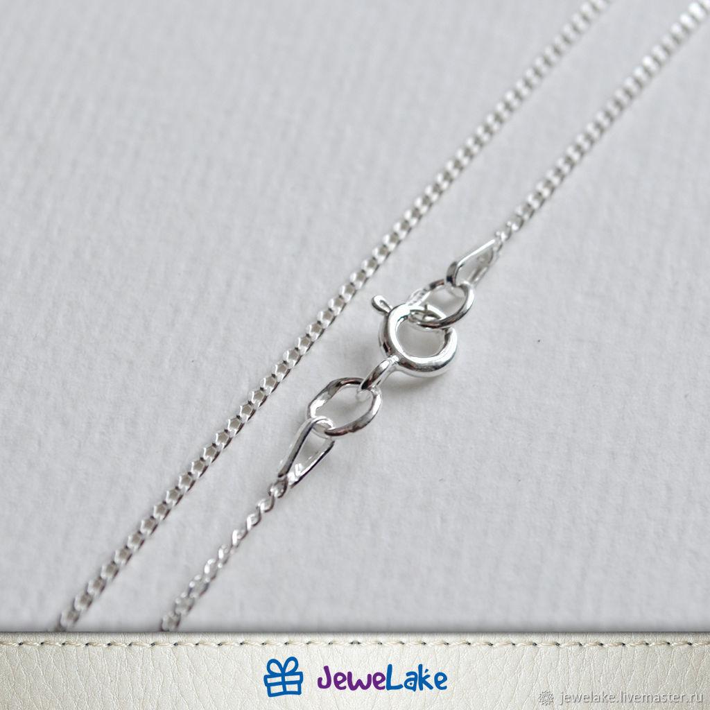 Цепочка из серебра 925 пробы. Панцирное плетение. Алмазная огранка, Цепочка, Ярославль,  Фото №1