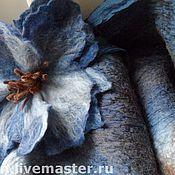 """Аксессуары ручной работы. Ярмарка Мастеров - ручная работа Шарф """"Сине-голубой"""". Handmade."""