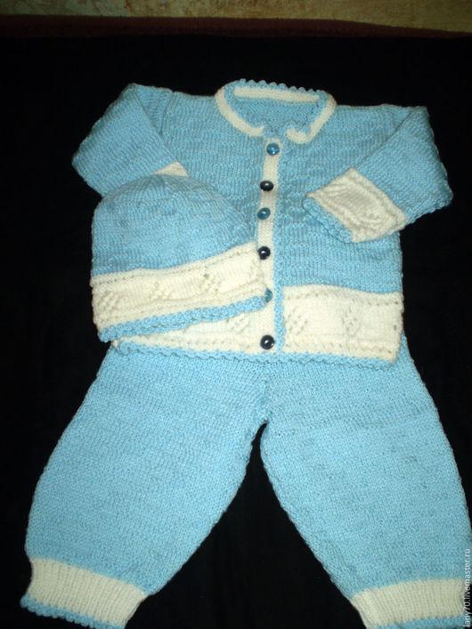 Одежда для мальчиков, ручной работы. Ярмарка Мастеров - ручная работа. Купить Костюмчик для мальчика от двух месяцев.. Handmade. Комбинированный