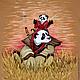 """Футболки, майки ручной работы. Ярмарка Мастеров - ручная работа. Купить Футболка """"Панда папа, панда сын"""". Handmade. Бежевый"""