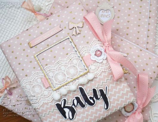 Подарки для новорожденных, ручной работы. Ярмарка Мастеров - ручная работа. Купить Альбом Baby бук для малышки. Handmade. Бледно-розовый