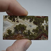 Материалы для творчества handmade. Livemaster - original item Indonesian moss agate. Cabochon 49 X 26 X 5. Handmade.