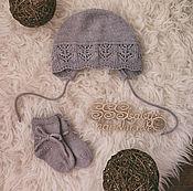 Работы для детей, ручной работы. Ярмарка Мастеров - ручная работа Чепчик и носочки для малышки. Handmade.