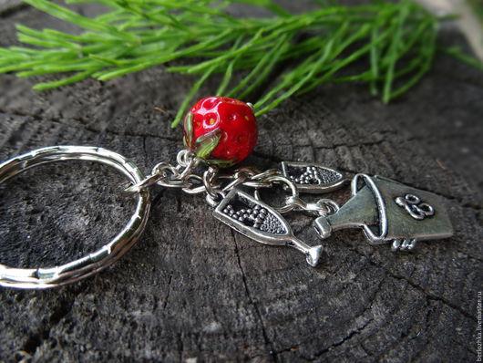 """Брелоки ручной работы. Ярмарка Мастеров - ручная работа. Купить """"Романтик"""" брелок для ключей, брелок в подарок. Handmade. Серебряный"""