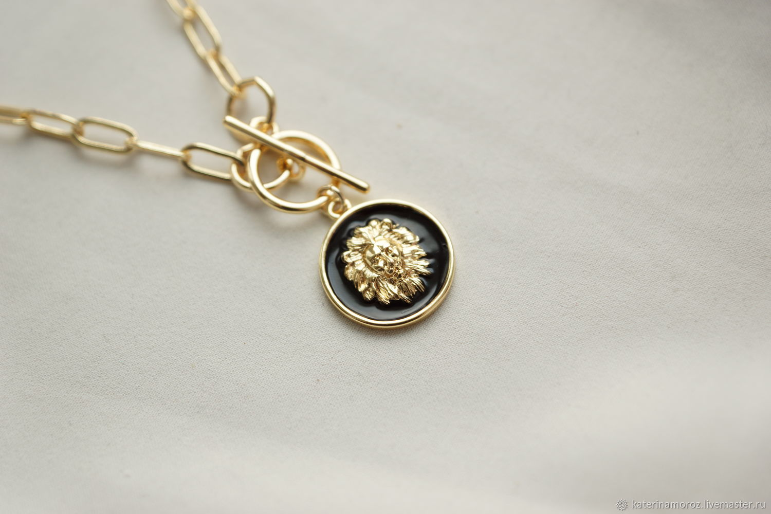 ' Lion' the lion classic, gold plated 14 K, Necklace, Moscow,  Фото №1