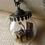 "Украшения handmade. Livemaster - original item Pendant sphere micro miniature ""Mystery of the old book"". Handmade."