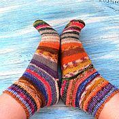 Аксессуары handmade. Livemaster - original item Socks knitted woolen, striped women`s socks rainbow. Handmade.
