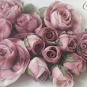 Свадебный салон ручной работы. Ярмарка Мастеров - ручная работа Розы на платье Роза в пыли. Handmade.
