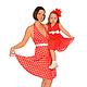 """Платья ручной работы. Ярмарка Мастеров - ручная работа. Купить Платья для мамы и дочки """"Малинки"""" комплект. Handmade. Ярко-красный"""