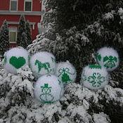 Подарки к праздникам ручной работы. Ярмарка Мастеров - ручная работа Вязаные елочные шары с норвежским орнаментом Зимняя сказка. Handmade.