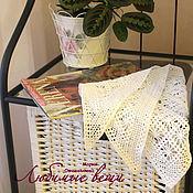 Аксессуары ручной работы. Ярмарка Мастеров - ручная работа Косынка вязаная летняя, ажурный платок, хлопок или лен. Handmade.
