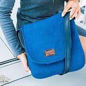 Сумки и аксессуары handmade. Livemaster - original item Bag felted Azul. Handmade.