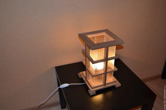 Освещение ручной работы. Ярмарка Мастеров - ручная работа. Купить светильник из ценных пород дерева в японском стиле. Handmade. Коричневый