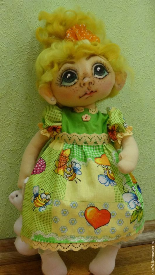 Коллекционные куклы ручной работы. Ярмарка Мастеров - ручная работа. Купить Текстильная кукла Кукляша. Handmade. Кукла интерьерная, хлопок